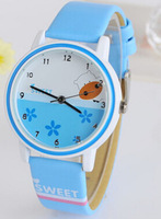 Children quartz  wristwatches watch cartoon girl student fashion waterproof watch Korean girls table girls watch waterproof