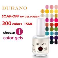 BURANO 200 Colors 2014 hot sale Shellac UV gel nail polish nail gel CND color coat nail gel nv polish 15ml 0.5oz  NEW