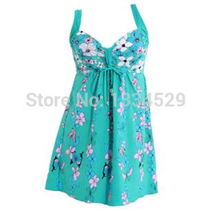 2014 New Dress Women Swimsuit One Piece Swimsuit Steel Female Swimwear Push Up Plus Size Spa L XL 2XL 3XL 4XL 5XL(China (Mainland))