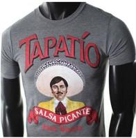 custom blank men's design tee shirts NEW MENS TAPATIO SALSA PICANTE HOT SAUCE HUMOR FUNNY SOFT COTTON TSHIRT
