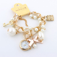 New Fashion Quartz watch Analog Bracelet Watch for Women Watches Lady wristwatch Alloy Rose Gold Hot Sale 2014