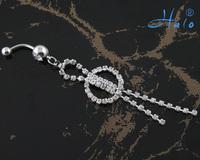 BJ00362 Free Shipping rhinestone pircing women belly ring piercing body jewelry