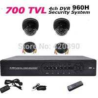 4CH DVR 700tvl 1080P HDMI 960H CCTV DVR Kit Day Night dome Security Camera Surveillance Video System Home DIY CCTV systems