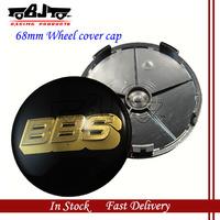 BJ-MCC-BBS-03 High Quality 4pcs/lot 68mm BBS Car Badge Emblem Black and Gold on BBS Wheel Center Cap