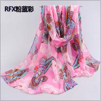 (Min order is $10) hot women winter scarf fashion style scarf polka velvet scarf chiffon Bohemia Scarf free shipping