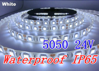 Free shipping Decorative light Flexible Ribbon Tape waterproof IP65 Led Strip 5050 SMD coolWhite