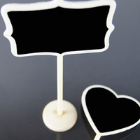 10x MINI CHALKBOARD BLACKBOARDS ON STICK STAND PLACE HOLDER BRAND-NEW | WEDDING Party Decorations Free Shipping(great mood)