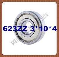 623 623ZZ 3*10*4 Miniature deep groove ball bearing 50pcs/lot free shipping