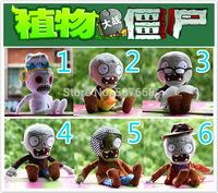 60pcs 2014 New Plants vs Zombies Plush Toys Stuffed Hat Zombies Dolls 28-30cm