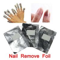100pcs Nail Remove Foil Soak Off UV Gel Acrylic Wraps Nails Art Polish Oil Treatment Tools Cuticle Remover Free Shipping