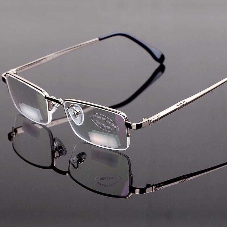 Gold Half Frame Reading Glasses : Free-Shipping-1X-Unisex-Men-s-Women-s-Half-Rimless-Metal ...