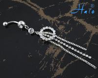 BJ00387 Free Shipping rhinestone body piercing navel ring jewelry