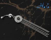 60pc/lot BJ00381 Free Shipping rhinestone crystal piercing belly button women body jewelry