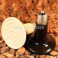 Hot Sale 110V  50w 100w Chick Pet Reptile Tank Tortoise Lizard Far Infrared Ceramic Heated Heat Lamp Black White