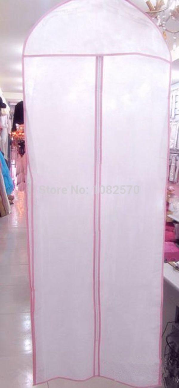 Wedding dresses dust cover Non woven bag Bag for packing clothes Dust cover for clothes(China (Mainland))