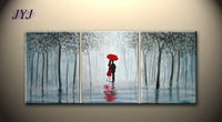 Kissing In The Rain Directly From Artist 100% Handmade Modern Abstract Oil Painting On Canvas Wall Art Gift Home Decor  JYJHS164