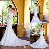Luxury Mermaid Wedding Dresses One Shoulder Chapel Train Slimming & Charming Beading Lace Bridal Dress Custom Size Free Shipping