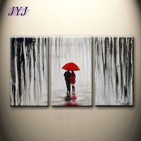 Walking In The Rain Directly From Artist 100% Handmade Modern Abstract Oil Painting On Canvas Wall Art Gift Home Decor  JYJHS161