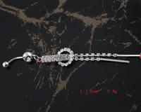 60pc/lot BJ00397 Free Shipping rhinestone belly rings body piercing helix jewelry