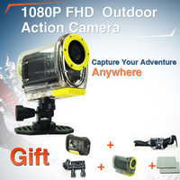 HD 1080P Sport Action Video Camera with Car DVR mode Sports DV30 Meter waterproof for Helmet/ Bike/ Diving/ Surfing