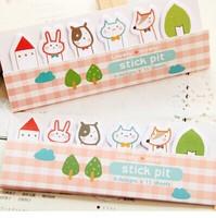 2014 new  Free ship 1lot=20pcs/korean stationery kawaii lovely rabbit dog fix animal memo pad /N sticker / post-it notes