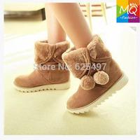 Free shipping lovely women snow warm boots female plush inside winter boots waterproof women shoes ws3046