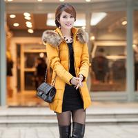 New Winter Fashion Women Fur Hat Warm Jackets for Women Long Sleeve Parka Coat Plus Size Waist Women Coats Drop Ship 1106