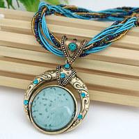 Wholesale Jewelry Fashion Cheap Women Men Jewelry Bohemia Alloy Crystal Elastic Statement Necklaces & Pendant