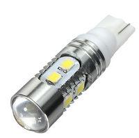 White 10W T10 194 161 W5W 10 SMD LED Car Light W5W Car Side Wedge Light Lamp Bulb Projector Lens