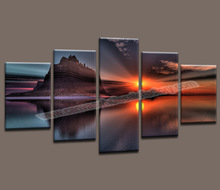 Canvas Painting 5 Piece Canvas Art Landscape Painting for Living Room Canvas Prints Artwork Wall Decor-Modern Decorative Picture(China (Mainland))