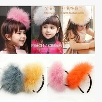 wholesale(5pcs/lot)-girl's Feather wreath cute baby act loving little hairpin ornaments