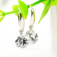Fashion Jewelry Crystal Rhinestone Elegant Silver Plated Ear Hook Dangle Earring Women Y32 MHM310#M5