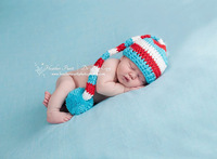 Free shipping new style 2 colors striped style baby hat handmade crochet photography props newborn baby cap