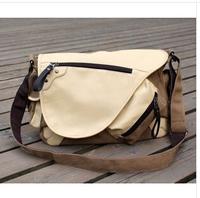 The new fashion 2014 men shoulder bag oblique satchel bag Canvas bag bag messenger bag men's bags high school students