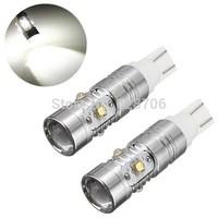 2pcs/lot Super Brightness White High Power 25W 5 CREE T10 194 W5W 912 921 T15 LED Bulbs for Parkig Backup Signal Reverse Lights