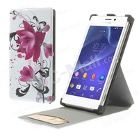 Free shipping 1pc/tvc-mall Vertical Flip Leather Card Slot Case for Sony Xperia M2 D2303 D2305 D2306 / M2 Dual D2302
