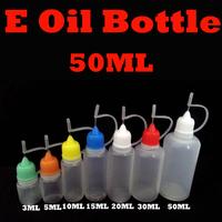 50ml E-liquid Empty Bottle Needle Bottle for eGo Series Electronic Cigarette E-cig Plastic Empty Dropper Bottles 50pcs/lot