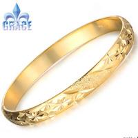 Grace Jewelry COPPER Alloy 18K Gold Plated Bangles women men Bracelets WEDDING Acessories GIFT GB764