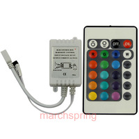RGB LED Strips Controller IR Remote,24key infrared controller for 5050/3528 LED strips  free shopping