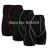 New Mens fixgear Compression skin sports shorts running fitness tight Leggings Base Under Layer Black skin tights shorts LS07