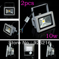 2PCS/LOT 10W LED Flood light  Waterproof High Power Flash Landscape Lighting LED Wash Outdoor Lamp Outdoor lamps  Free Shipping