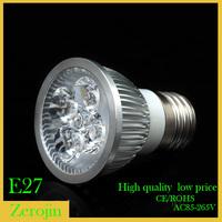 Wholesale  E27 4W/5W12W AC85~265V white/warm white LED  spotlight  Bulb lamps  Free shipping