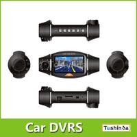 "R310 car DVR Camera 2.7"" TFT LCD Infrared Night Vision Dual Lens Car Camera with GPS Logger and G-Sensor"