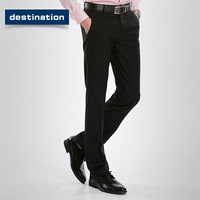 Free shipping!Male western-style trousers casual slim commercial fashion suit pants easy care male trousers