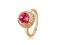 Stunning Ruby & Crystal Rhinestone Decorated Ring Sz 9     LHP-5952D