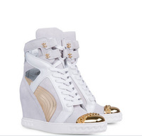 New Design Women Spring-Summer Cut-out Sneakers Height Increasing High Tops Brand Fashion Booties for Women Casual Sport Shoes