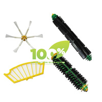 Replacement Filter,Side Brush,Bristle Brush and Flexible Beater Brush Combo for Roomba 500 Series Cleaner 560 570 580