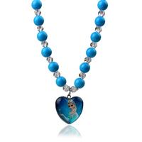 Hot 2014 Fashion kid's jewelry FROZEN Elsa Princess Pendant Elasticity necklace bead elastic children necklace jewelry Wholesale