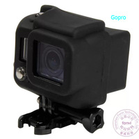 mini camcorders Black silicon rubber case gopro hero 3 sj4000 Action camera  mini  gopro accessories KOO