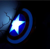 2014 dream master new hot sale marvel Captain America Shield LED Wall lamp DC12V free shipping